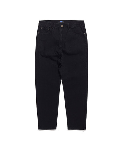 RELAXED CROPPED DENIM PANTS BLACK