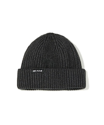 DMT CROPPED BEANIE CHARCOAL