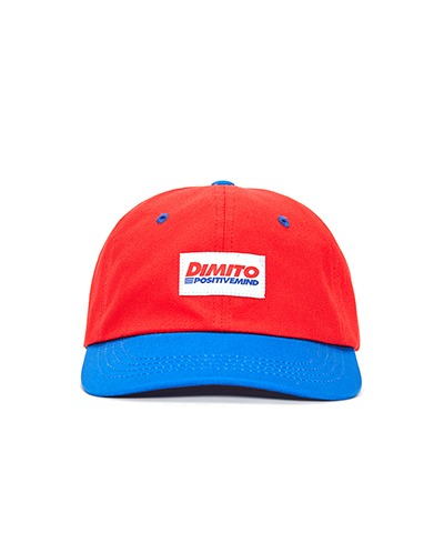 FONT LOGO 6 PANEL CAP RED/ROYAL BLUE