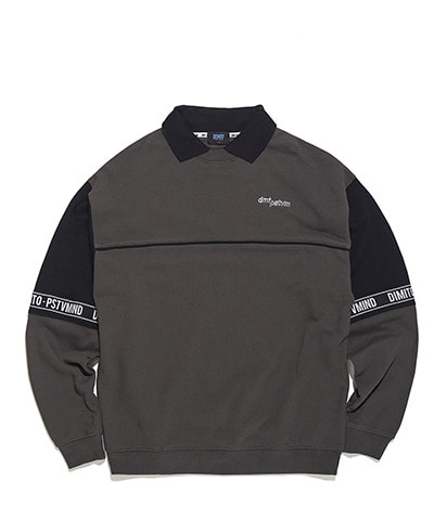 LOGO TAPE PK SWEATSHIRTS CHARCOAL